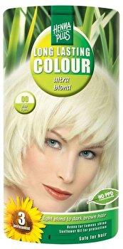 Decolorant, Long Lasting Colour Ultra Blond 00, 140 ml de la Hennaplus