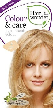 Vopsea par naturala, Colour & Care, Light Blond 8, 100 ml de la Hairwonder