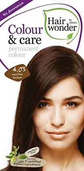 Vopsea par naturala, Colour & Care, Mocha Brown 4.03, 100 ml de la Hairwonder