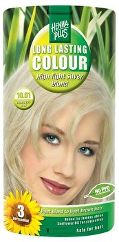Vopsea par, Long Lasting Colour, High Light Silver Blond 10.01, 100 ml de la Hennaplus