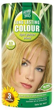 Vopsea par, Long Lasting Colour, Light Golden Blond 8.3, 100 ml de la Hennaplus
