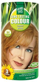 Vopsea par, Long Lasting Colour, Copper Blond 8.4, 100 ml de la Hennaplus