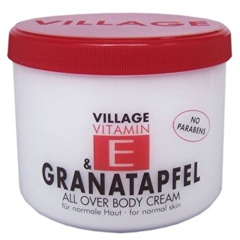 Crema corp cu vitamina E si Rodie, 500 ml