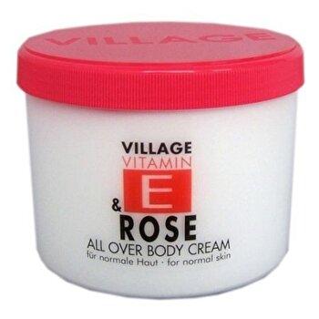 Crema corp cu vitamina E si Trandafir, 500 ml