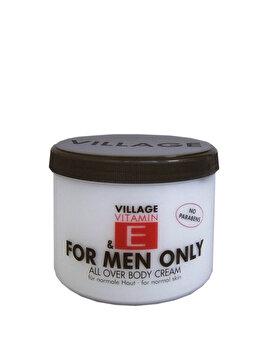 Crema corp cu vitamina E For Men Only, 500 ml de la Village Cosmetics