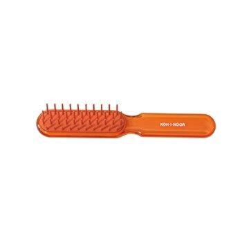 Perie pneumatica, peri plastic, portocaliu, 16 x 2.5 cm, Koh-I-Noor, 7114A de la Koh-I-Noor