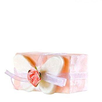 Sapun decorativ fluture roz si glicerina, Organique, 120 g de la Organique