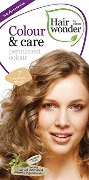 Vopsea par naturala, Colour & Care, Medium Blond 7, 100 ml, Medium Blond 7, 100 ml de la Hairwonder