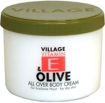 Crema corp cu vitamina E si Masline, 500 ml