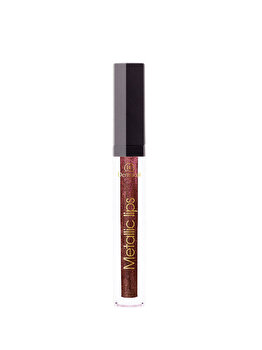 Luciu de buze Liquid Metallic Lipstick, Chili Chocolate, 3.5 g de la Dermacol