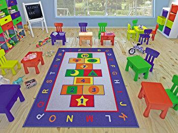 Covor copii Confetti, 770CNF8789, 133 x 190 cm, Multicolor de la Confetti