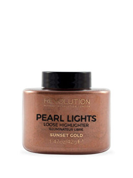 Pudra iluminatoare Pearl Lights, Sunset Gold, 42 g de la Makeup Revolution London