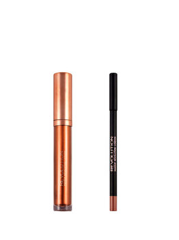 Set de buze metalic Luxe Kits: Creion de buze, 1 g + Luciu de buze, 5.5 ml, Savana nights de la Makeup Revolution London