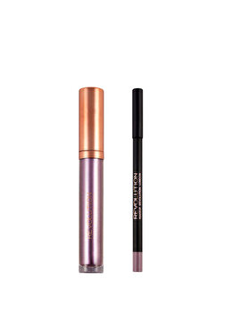 Set de buze metalic Luxe Kits: Creion de buze, 1 g + Luciu de buze, 5.5 ml, The Rebellion de la Makeup Revolution London