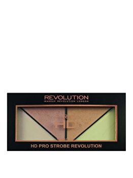 Paleta pentru conturarea tenului Pro HD Strobe de la Makeup Revolution London