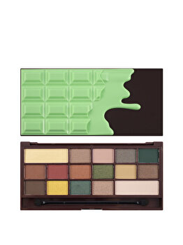 Paleta farduri de ochi, I Heart Makeup, Chocolate Mint, 21.95 g de la Makeup Revolution London