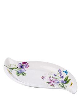 Platou pentru servire Flowers, Noble Life, 721NBL0350, Alb de la Noble Life