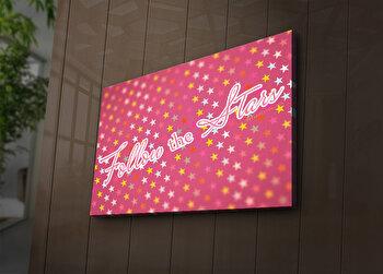 Tablou decorativ canvas cu leduri Ledda, 254LED1254, Multicolor de la Ledda