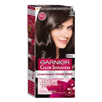 Vopsea de par permanenta cu amoniac Garnier Color Sensation cu pigmenti intensi 3.0 Saten Prestige de la Garnier Color Sensation