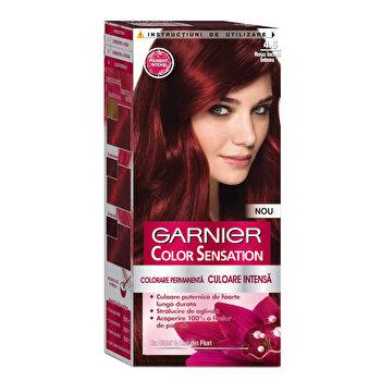 Vopsea de par permanenta cu amoniac Garnier Color Sensation cu pigmenti intensi 4.6 Rosu Inchis Intens de la Garnier Color Sensation
