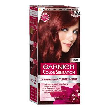 Vopsea de par permanenta cu amoniac Garnier Color Sensation cu pigmenti intensi 5.62 Visiniu Intens Pretios de la Garnier Color Sensation