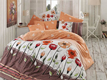 Lenjerie de pat, Majoli Bahar Home Collection, 110BHR2396, Multicolor de la Majoli Bahar Home Collection