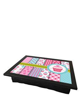Tava cu perna, pentru servire – Cupcake love, My Tray, 424MTR0292, Multicolor de la Mytray