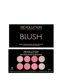 Paleta farduri de obraz, nuanta All About Pink, All About Pink de la Makeup Revolution London