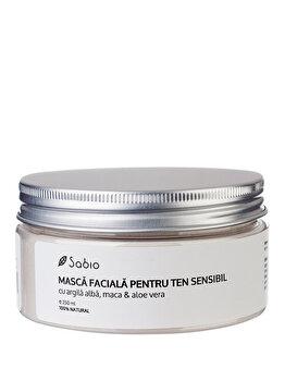 Masca faciala pentru ten sensibil cu Argila Alba, Maca & Aloe Vera, 250 ml de la Sabio