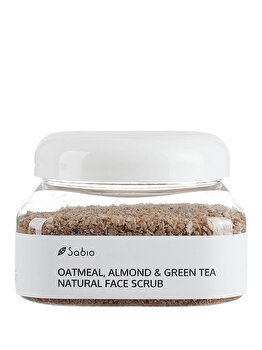 Exfoliant facial – Oatmeal, Almond & Green Tea Natural Face Scrub, 236 ml de la Sabio