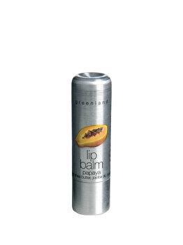 Balsam de buze nuantator cu extract natural din Papaya, Nude, 3.9 g de la Greenland