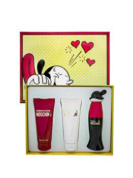 Set cadou Moschino Cheap & Chic (Apa de toaleta 50 ml + Gel de dus 100 ml + Lotiune de corp 100 ml), pentru femei de la Moschino
