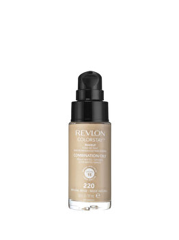 Fond de ten Colorstay pentru ten mixt-gras, 220 Natural Beige, 30 ml de la Revlon