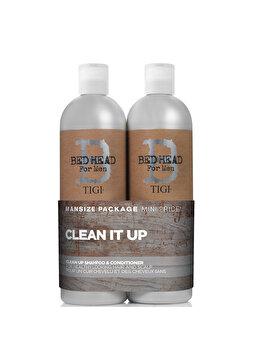 Set Bead Head Men Clean Up: Sampon, 750ml+ Balsam, 1500 ml de la Tigi