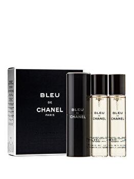 Set cadou Chanel Bleu de Chanel (Apa de toaleta 20 ml + 2 x Rezerve 20 ml), pentru barbati de la Chanel