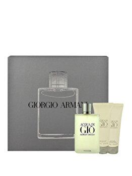 Set cadou Giorgio Armani Acqua di Gio (Apa de toaleta 100 ml + After shave balsam 75 ml + Gel de dus 75 ml), pentru barbati de la Giorgio Armani