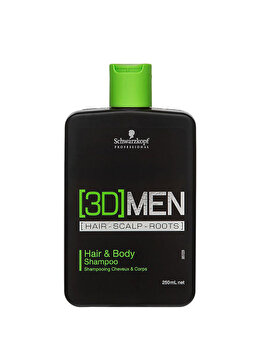 Sampon si gel de dus 2 in 1 3D Men, 250 ml de la Schwarzkopf Professional