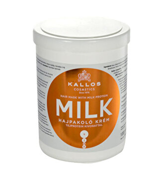 Masca pentru par uscat si deteriorat Milk, 1000 ml de la Kallos