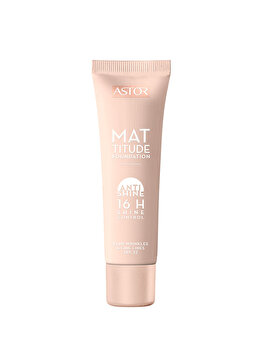 Fond de ten Mattitude Anti Shine cu SPF22, 091 Light Ivory, 30 ml de la Astor