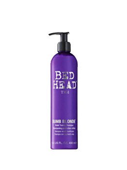 Bed Head Dumb Blonde Purple Toning Shampoo, 400 ml de la Tigi