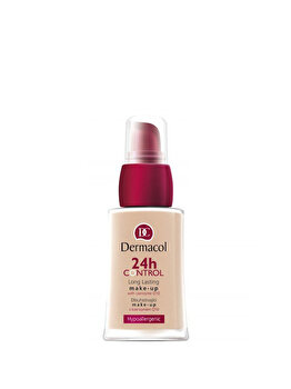 Fond de ten Dermacol 24 h Control Make-up cu Q10, nr. 01, 30 ml