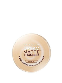 Fond de ten Dream Matte Mousse SPF15, 10 Ivory, 18 ml de la Maybelline