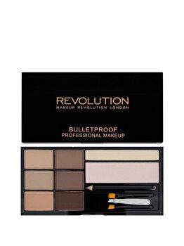 Paleta de sprancene Make-up Revolution, Fair To Medium, Fair To Medium, 19 g de la Makeup Revolution London