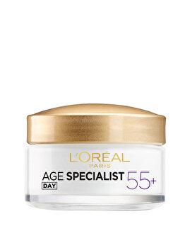 Crema antirid de fata pentru zi L'Oreal Paris Age Specialist 55+, 50 ml