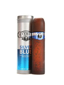 Apa de toaleta Cuba Silver Blue, 100 ml, pentru barbati