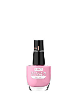 Lac de unghii Perfect Stay Gel Color, 004 Pink Sunset, 12 ml de la Astor