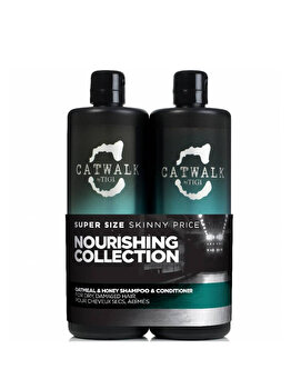 Set Catwalk Nourishing Collection Duo Kit: Sampon 750 ml + Balsam, 750 ml de la Tigi