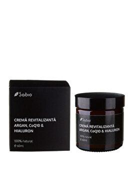 Crema revitalizanta argan cu Q10 si Acid Hialuronic (pentru barbati), 60 ml de la Sabio