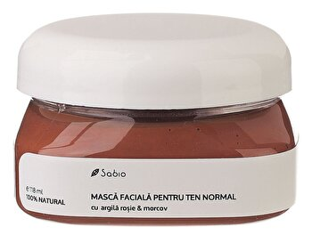 Masca faciala pentru ten normal cu Argila Rosie si Morcov, 118 ml de la Sabio