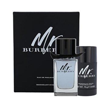 Set cadou Burberry Mr.Burberry (Apa de toaleta 100 ml + Deostick 75 ml), pentru barbati de la Burberry